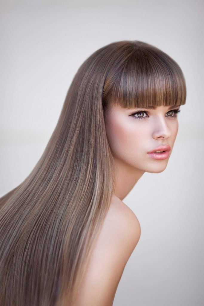 средне-русый цвет волос