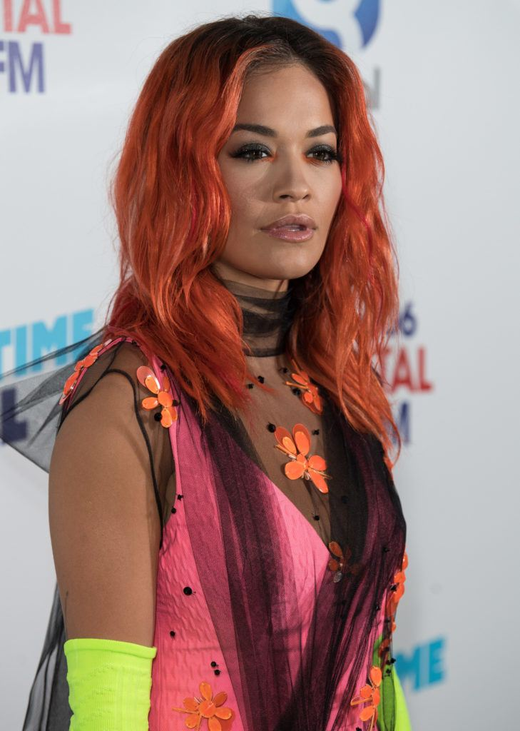оранжевые волосы