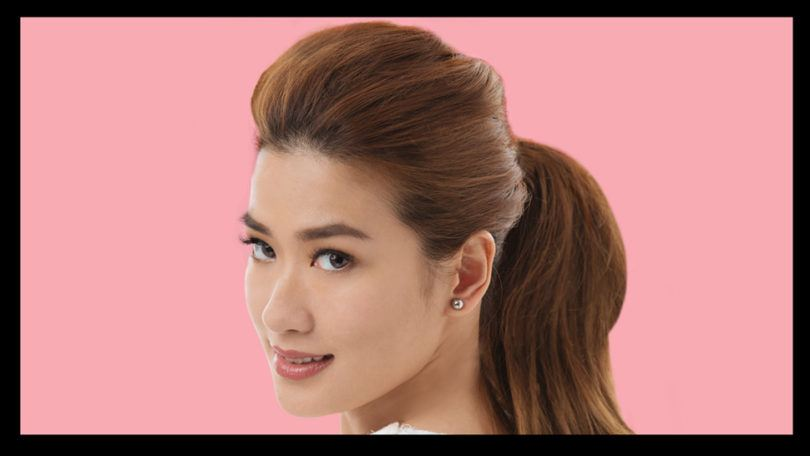 janeena chan fancy ponytail for night out
