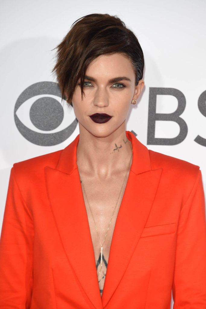 Ruby Rose with an edgy pixie cut hairstyle