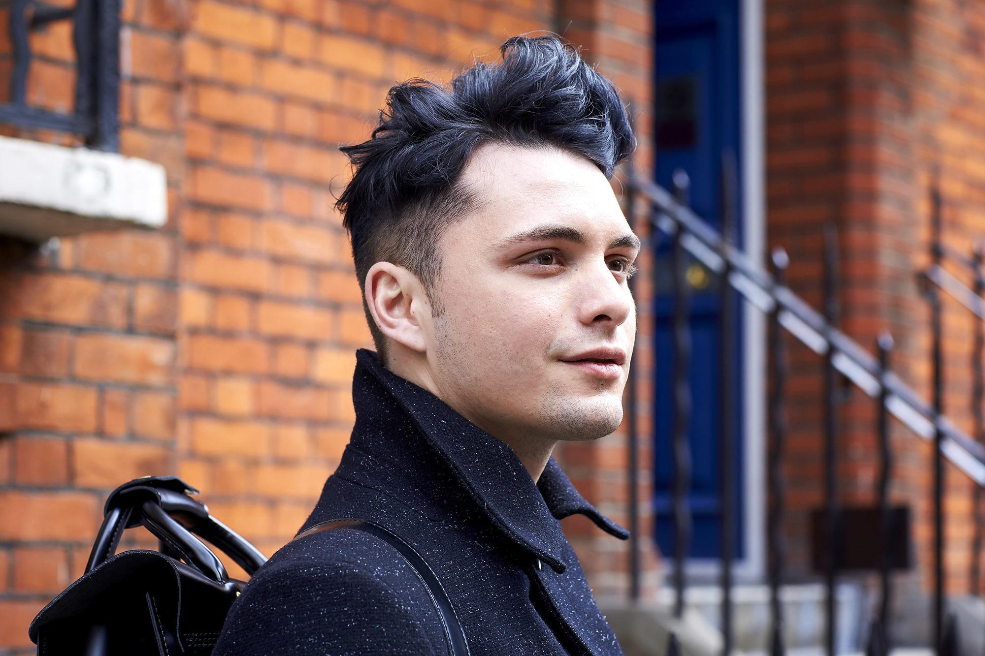 Male with undercut hair
