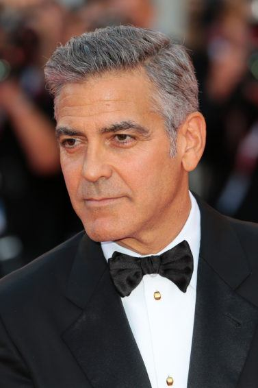 george clooney's grey hairstyle