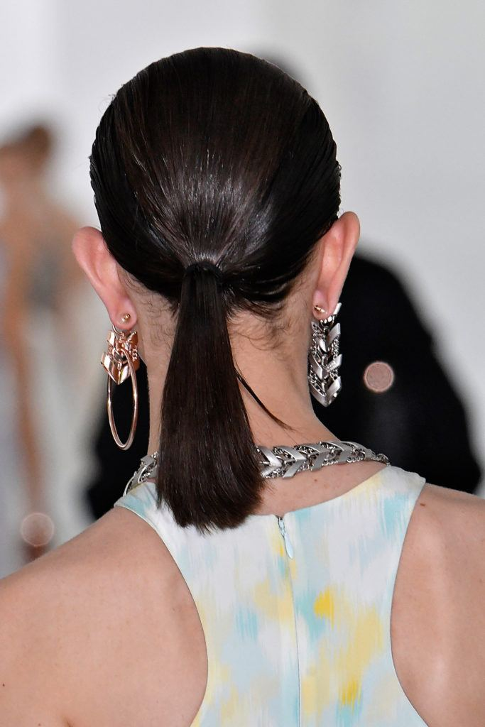 everyday hairstyles for work - slicked back pony