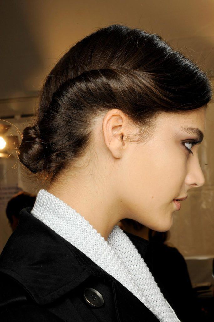 everyday hairstyles to try: twisted updo w