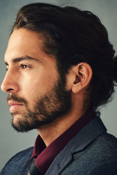 hairstyles for men with long hair to try: man bun
