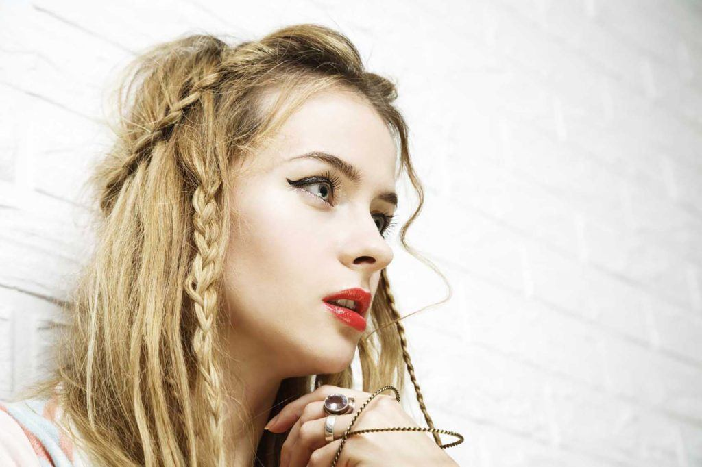 braided half-up bohemian hairstyles