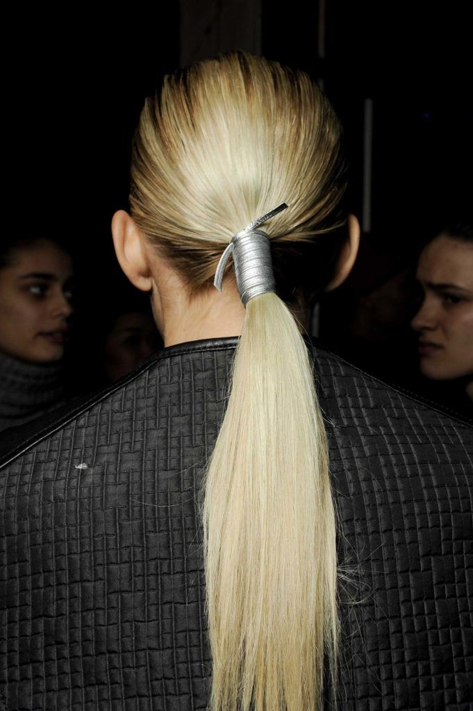 chrstimas party hairstyles wrapped ponytail