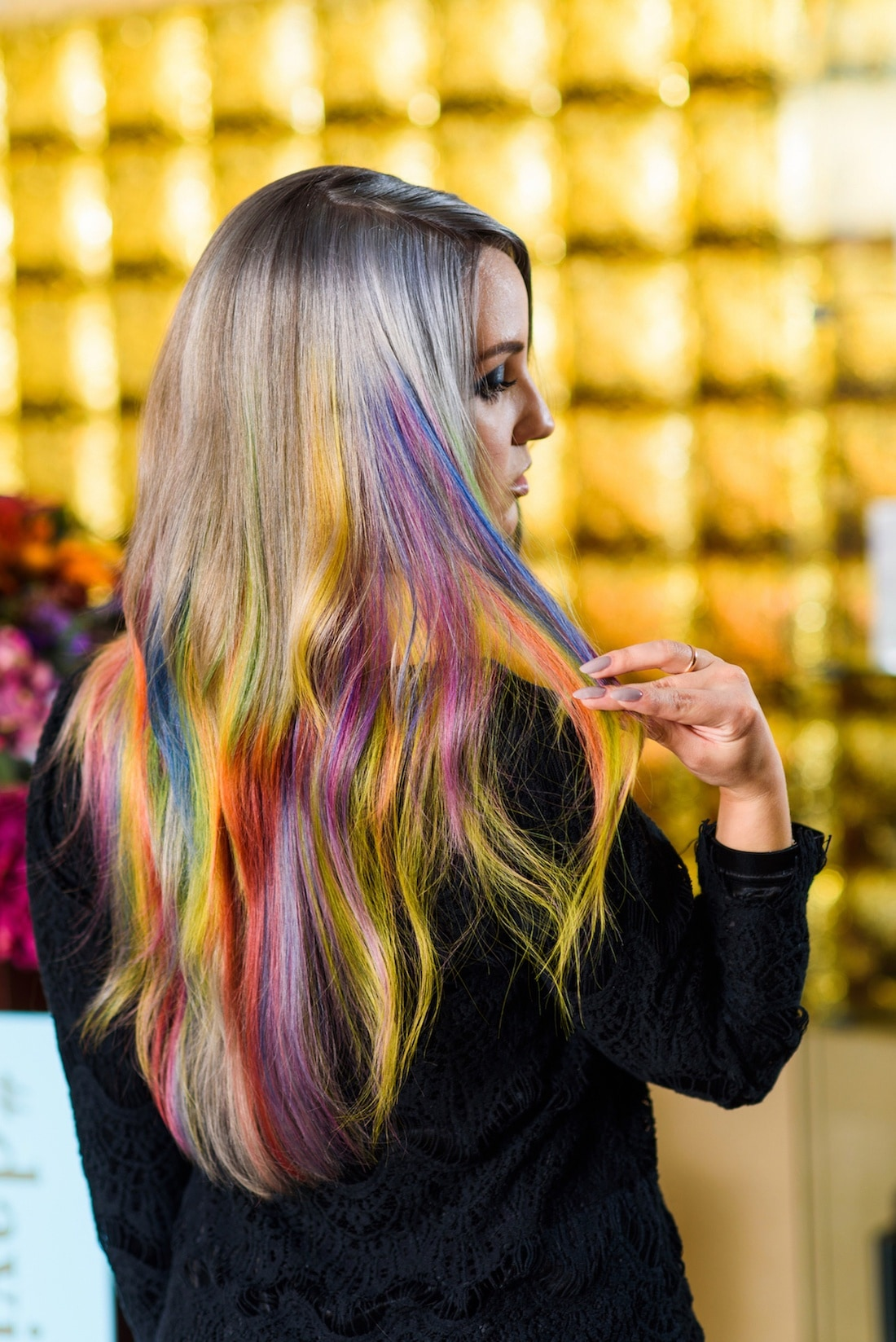 Ombre rainbow hair images