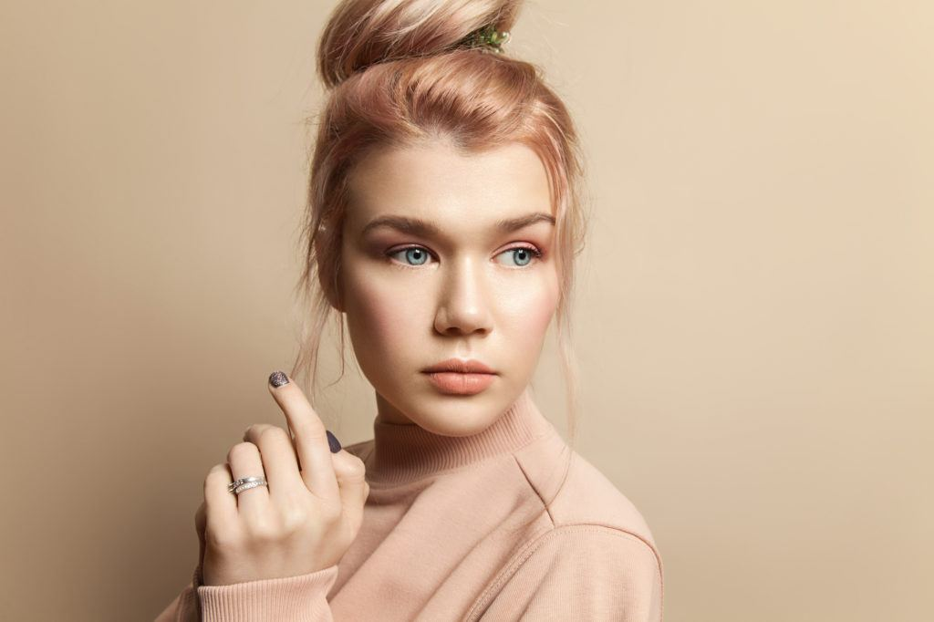 pastel hair colors - peach
