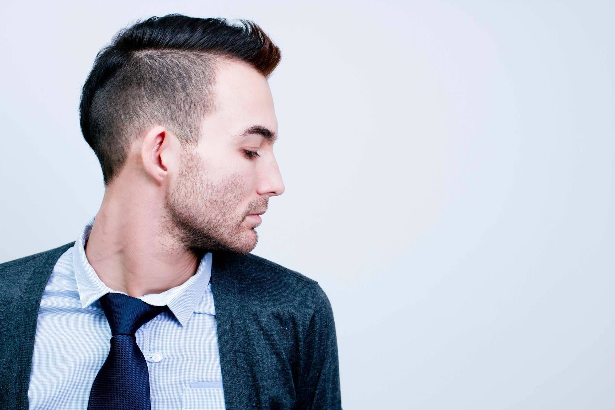 quiff mohawk hairstyle emo hairstyles for guys