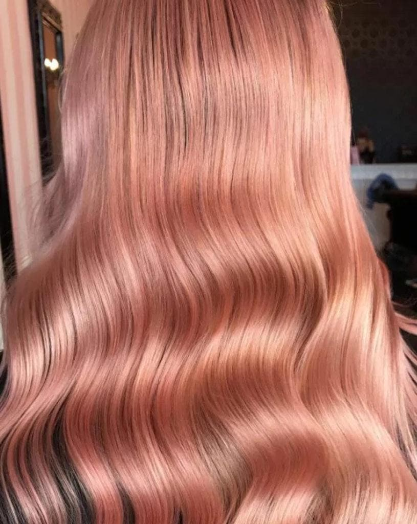 Rose Gold Hair Color On Naturally Dark Hair Is It Possible All