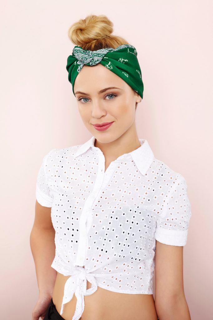 bandana bun sporty hairstyles