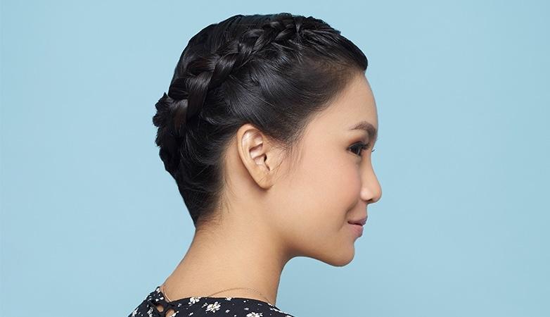 halo braid hairstyle tutorial