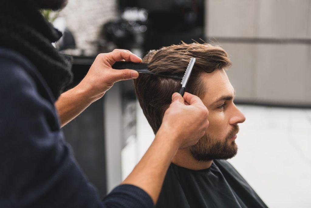 mens hair grooming habits barber visits