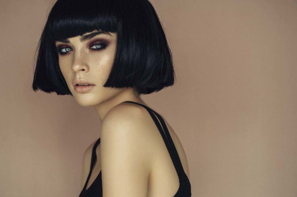 blunt prom hairstyles for short hair