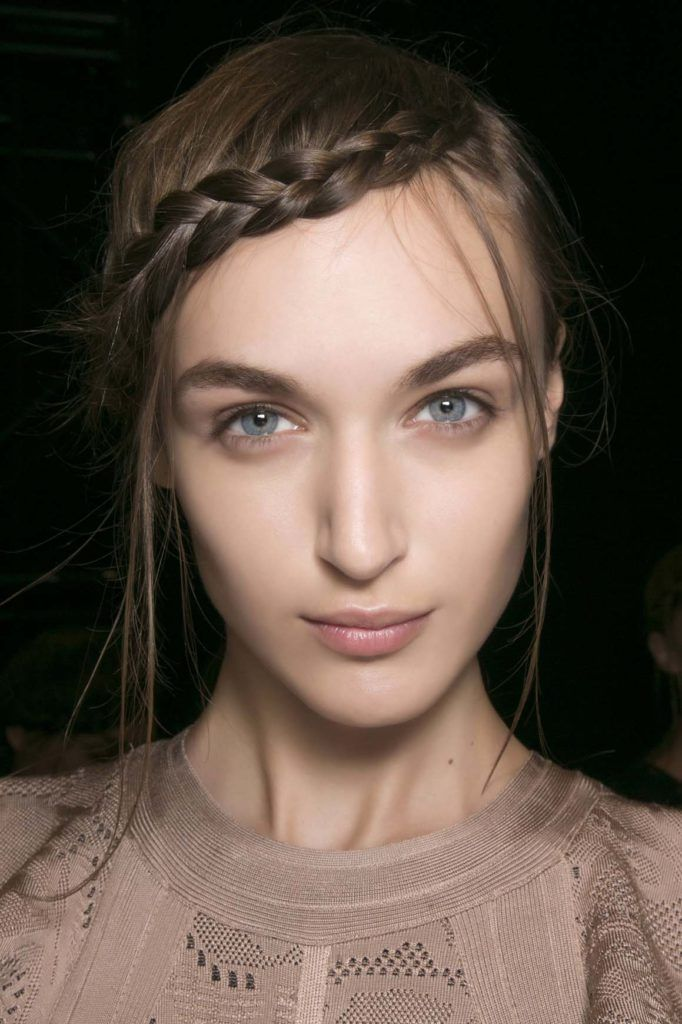 braided side bangs