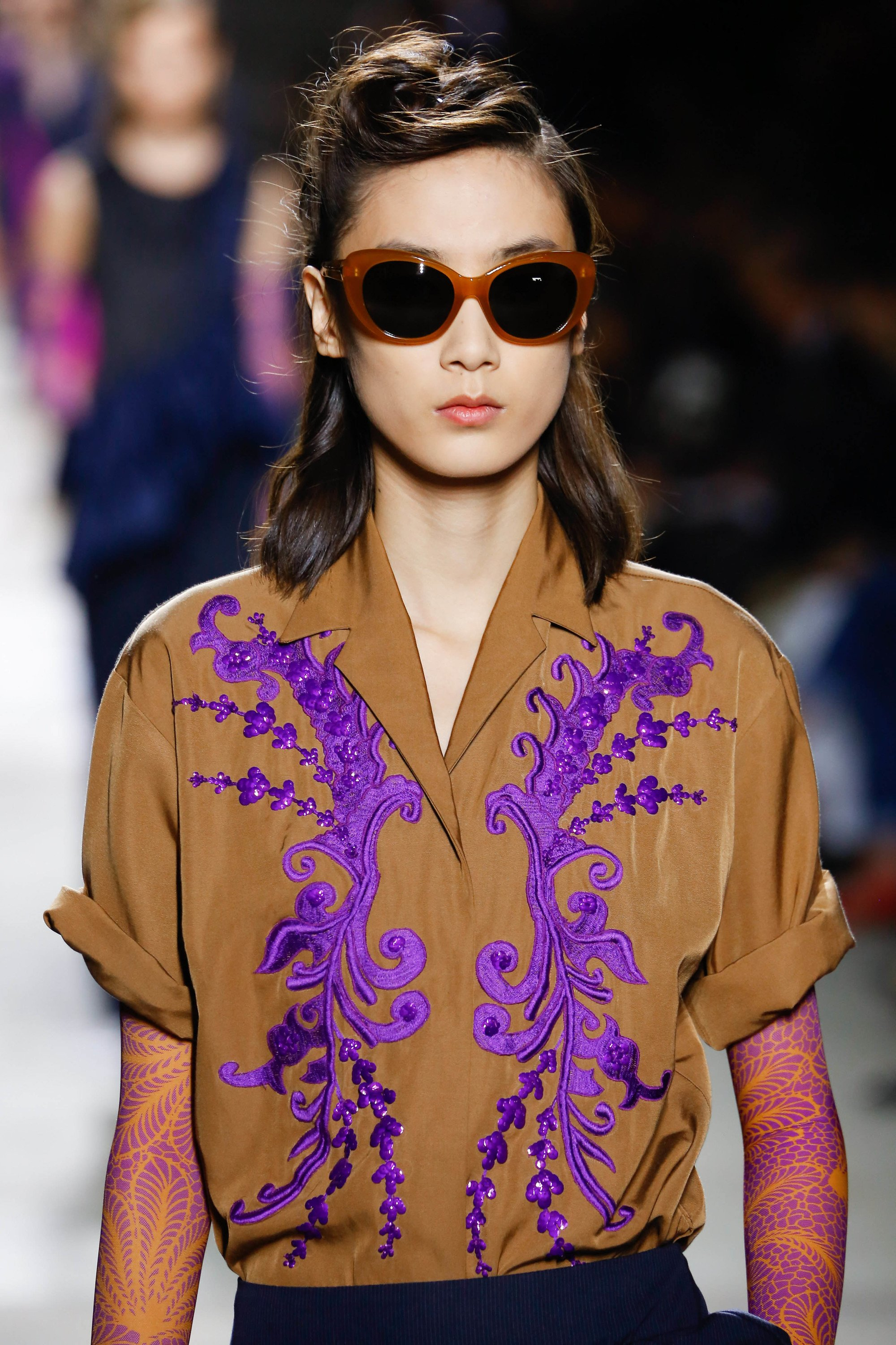 Dries Van Noten SS 2016 retro hairstyles