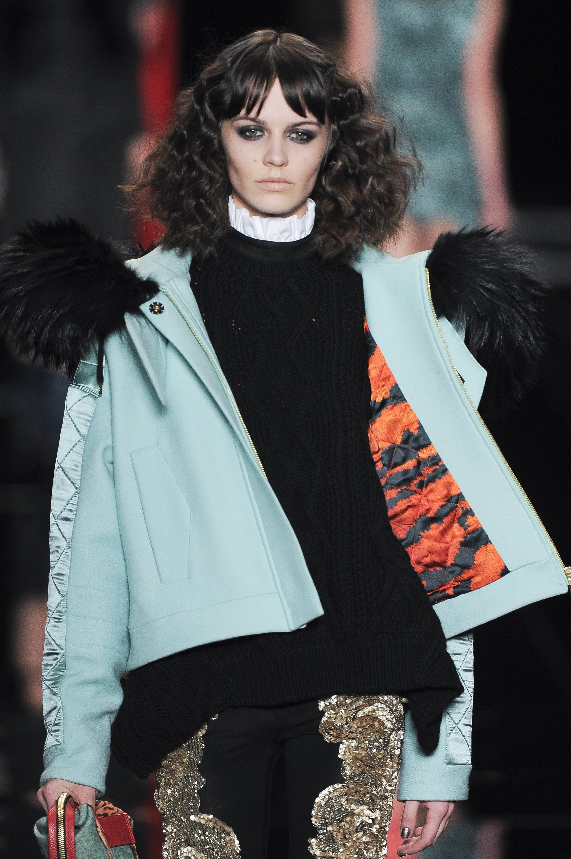 Just Cavalli FW 2014 Victorian hairstyles crimped hair