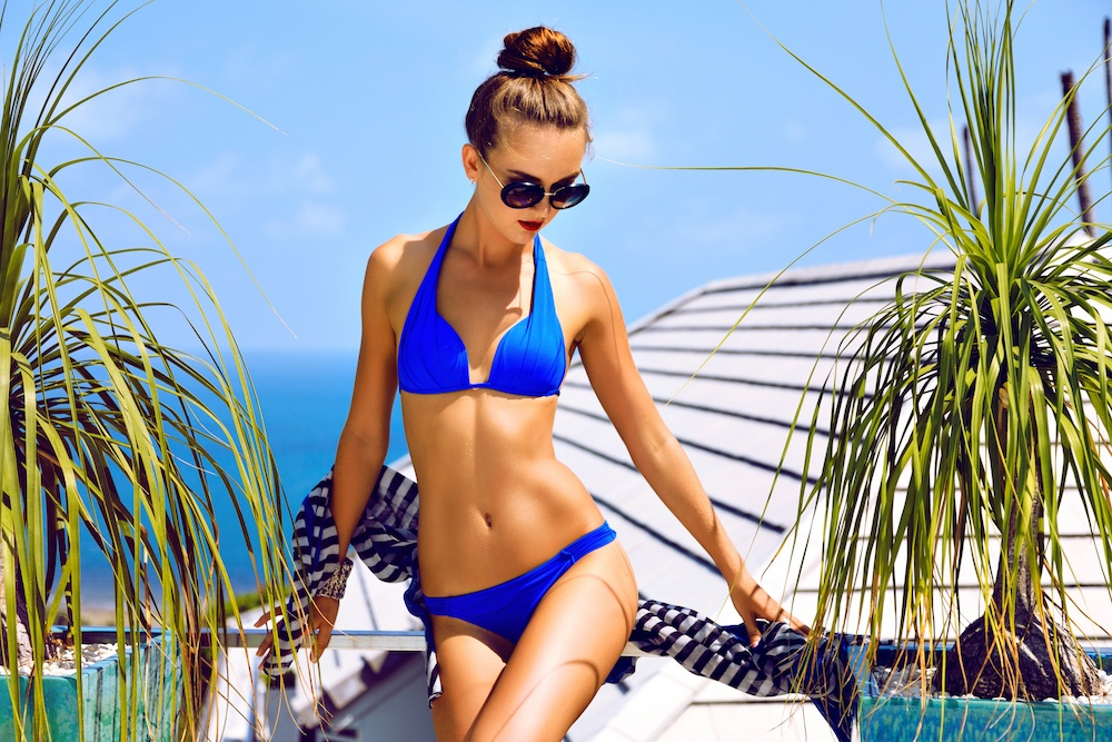 beach hairstyles - top knot
