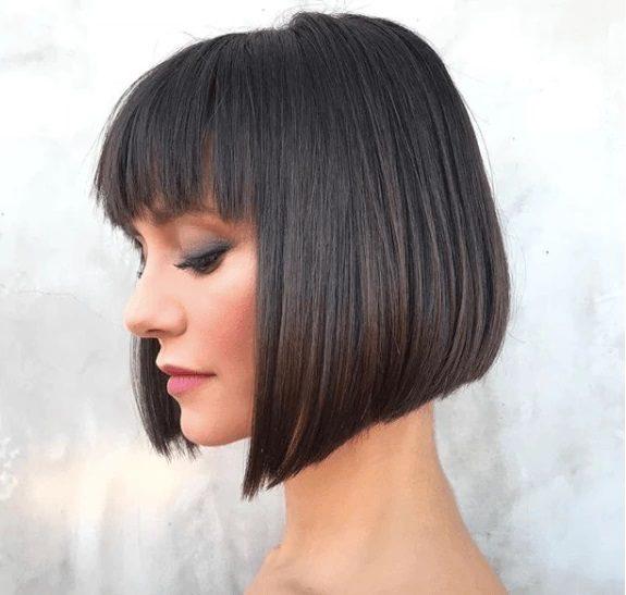 summer hairstyles - asymmetrical bob