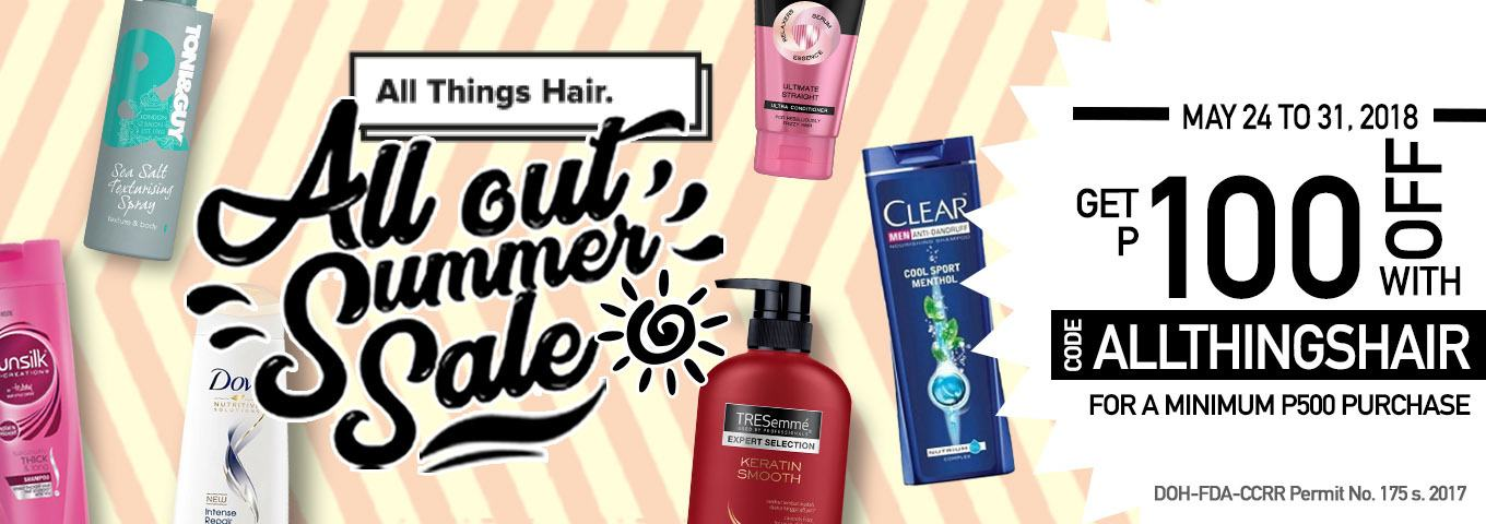 All Things Hair All Out Summer Sale Voucher - Summer Hair Care Essentials for 2018