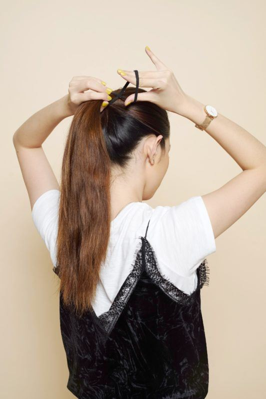 four strand hair braid ponytail