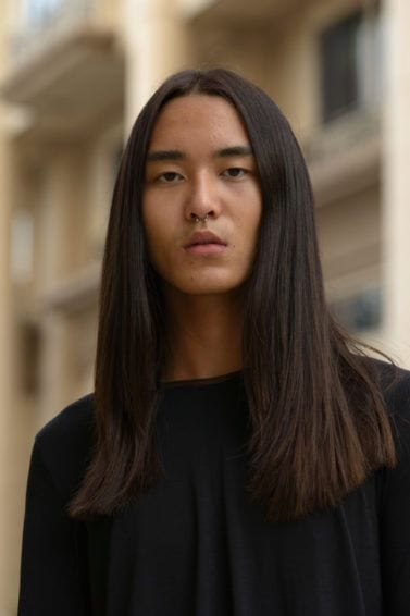 straight and long hairstyles for men