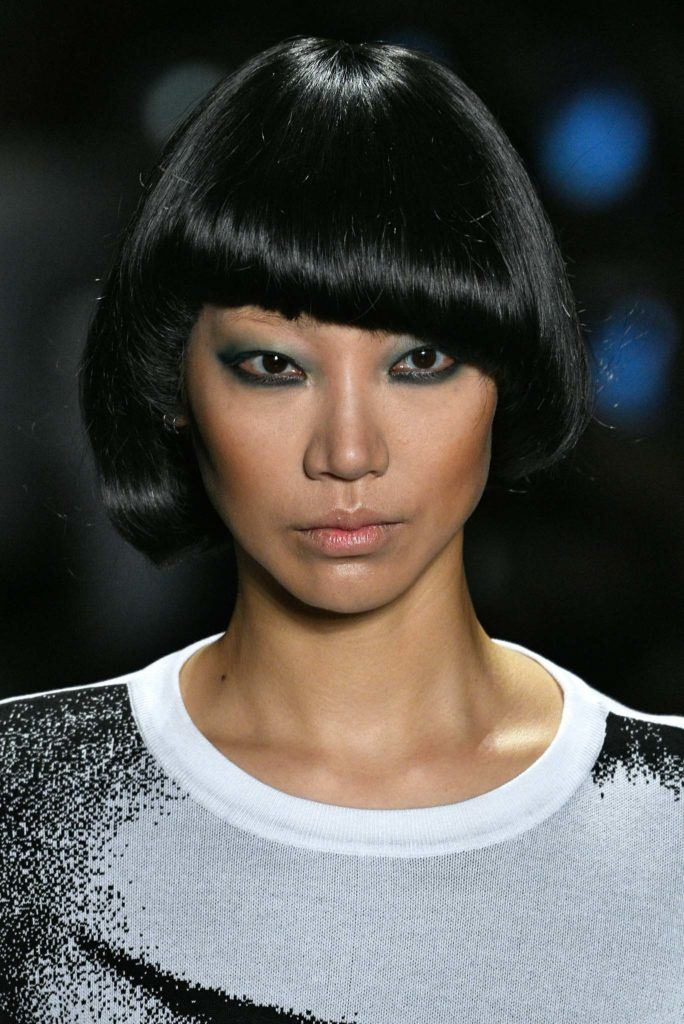 asymmetrical bowl cut