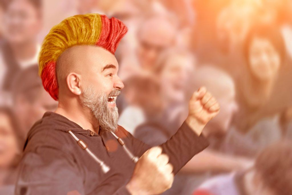 Fun hair ideas for World Cup fans - Support the Spanish shutterstock