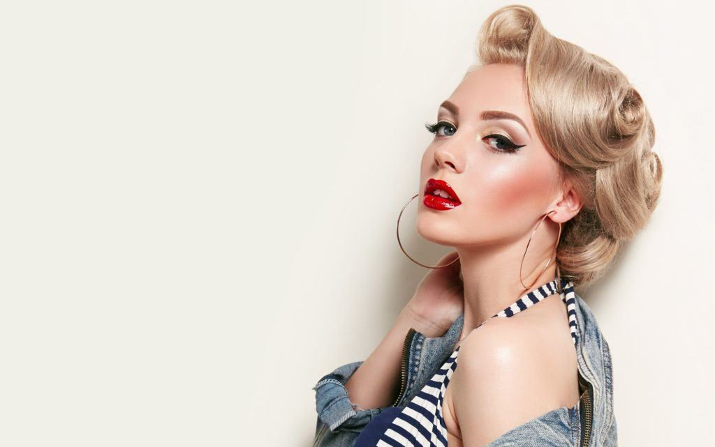 Vintage hairstyles - Victory rolls Credit: Shutterstock