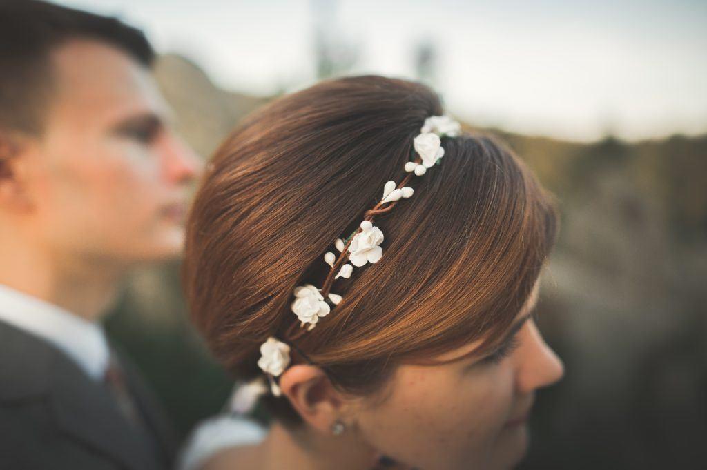 wedding hairstyles for short hair - short and sleek shutterstock