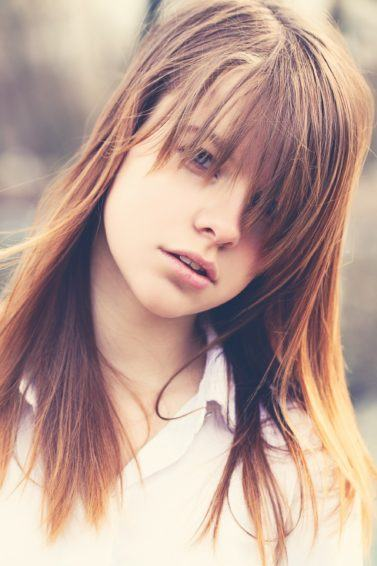 How to hide bangs when they're messy