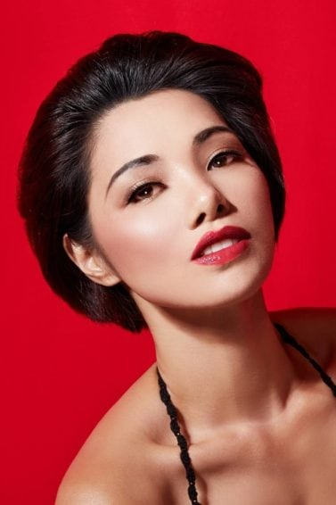 Asian woman with short black hair