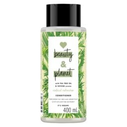 Bottle of Love Beauty and Planet green conditioner