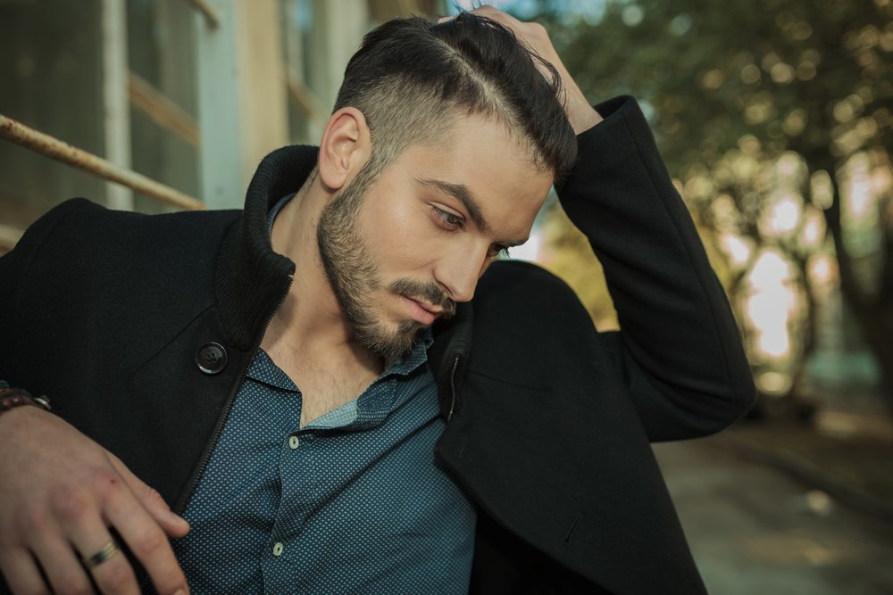 taper fade haircut in long hairstyles for men with thick hair