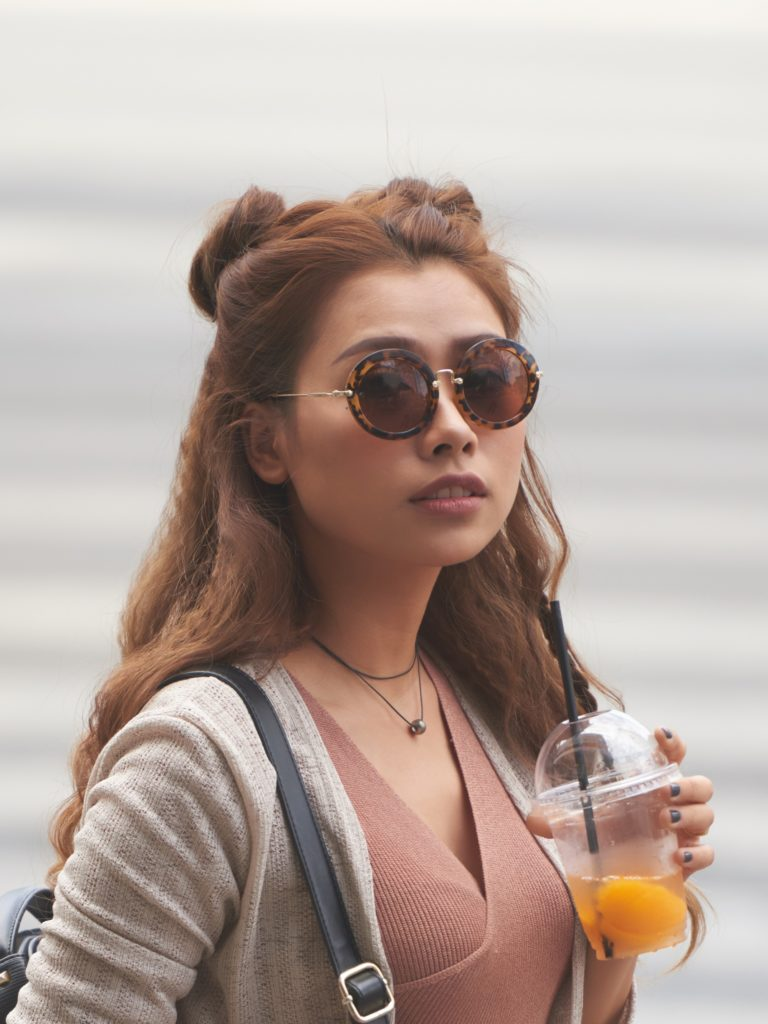 boho bun hairstyle